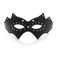 Sexy PU cuir Eyewear Filles Lady Femmes Demi Visage Masque Pour Les Yeux pour Soirée Dansante Ball partie Adulte Cosplay jeu