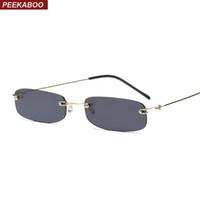 Peekaboo gafas de sol estrechas hombres sin montura de verano 2018 rojo  azul negro gafas de 305e6bef802f