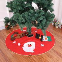 jupe arbre de Noël rouge tapis de Noël arbre joyeux décorations de Noël pour la maison Nouvel An décoration extérieure jupe arbre Navidad