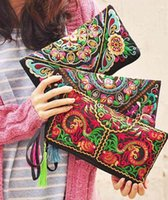 1pcs lot national style Women Wallet Embroider Purse Clutch ...