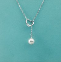 Luxury jewelry S925 sterling silver Pearl and Heart necklace...
