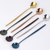 Factory Wholesale Stainless Steel Spoons With Long Handle So...
