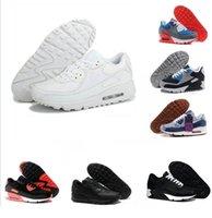 2018 90 Sneakers Uomo Scarpe classiche Uomo donna Scarpe da corsa Nero  Rosso Bianco Sport Trainer 4a15a37c2e5