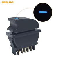 FEELDO New Universal 5pins Auto Fensterheberschalter 12V / 24V 20A mit Beleuchtung Blue LED Light # 2945
