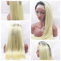 Free Shipping Top Quality 1b 613# Ombre Blonde Silky Straigh...