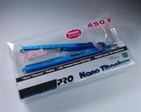 Em estoque straightener de cabelo titânio pro 450F 1 1/4 placa titânio endireitamento ferros liso penteado cabelo encrespador de alta qualidade