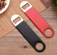 DHL Stainless Steel Flat Bottle Opener for home Solid Easy t...
