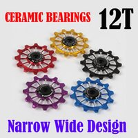 5 colours Narrow Wide Ceramic Bearing Derailleur Pulley 12T ...