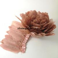 Бесплатная доставка шампанское розовый гусиное перо бахрома 10 ярдов отделка для ремесла свадебное платье на заказ