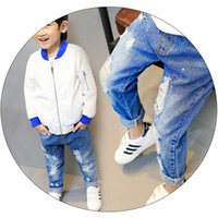 Unisex Regular Jean Pants 2017 New ASrrvials Boy Girls Denim...