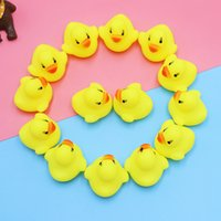 HOT Baby Bath Toys Baby Bath Water Duck Sounds Mini Yellow R...