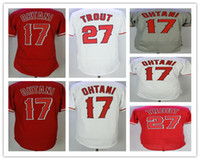 2018 Mens #17 Shohei Ohtan # 27 Mike Trout Angeles Jersey Co...
