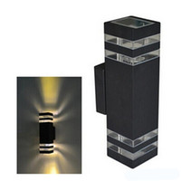 Dhl ماء أدى الجدار مصابيح ip65 ac90-260v مع 2 قطع * 5 واط أدى المصابيح الألومنيوم فناء حديقة الشرفة أضواء الممر