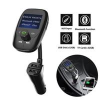 Bluetooth Transmetteur FM de voiture Adaptateur audio radio embarqués- récepteur sans fil Kit Mains Libres FM34 avec chargeur port USB de haute qualité