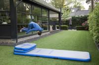 شحن مجاني مجموعة (6 أجزاء) نفخ الهواء المسار تراجع حصيرة أرضية الجمباز سادة التدريب رياضة حصيرة التايكواندو وسادة الهواء مع مضخة الهواء