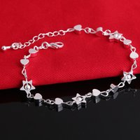 Unique Nice Sexy Simple Beads Silver Chain Bracelet Hand Jew...