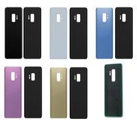 Samsung Galaxy S9 G960 VS S9 Artı G965 100pcs / Lot DHL için Yapıştırıcı Sticker Değiştirilmesi Yeni Pil Kapı Arka Cam Kapak Konut