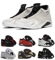 Großhandel klassischen Sneaker 14 14s Black Toe letzten Schuss Varsity Red Suede Thunder Männer Basketball Schuhe Cool Grey DMP Candy Cane Trainer Design