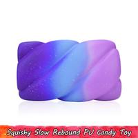 1 ADET Mavi Pamuk Şeker Squishy Çocuk Oyuncakları Yavaş Yükselen Jumbo Squishies Sıkmak Oyuncak Ev Dekor için Stres Giderici Gençler için hediyeler Yetişkin