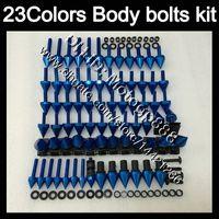 Pernos de carenado Kit de tornillo completo para KAWASAKI NINJA ZX6R 00 01 02 ZX 6R ZX 6 R 00 02 ZX-6R 2000 2001 2002 Tuercas corporales Tornillos Tuercas Nuez Kit 23 Colores
