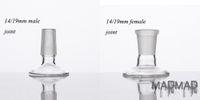 Adaptador de vidrio de 14mm / 19mm para piezas de tazón o cúpulas empalmadas con esmalte empalmes adaptadores para fumar accesorios 377/378