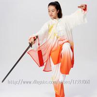 여성 남성 아동 소년 소녀 아이 성인을위한 중국어 태극권 옷 태극 검 의류 쿵후 의상 성능 정장 자수 의류