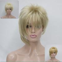 HIVISION 2018 Yeni Moda Asimetrik sarışın yan patlama kısa düz sentetik saç kadın peruk 3 renkler