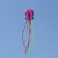 4M Large Cartoon Octopus Kite Einleiner Stunt / Software Power Kinder Outdoor Kite mit 30m Kite String