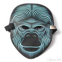 Led Işıldayan Masquerade Ses Reaktif Kontrol Özel Maske Renkli Işık Yanıp Sönen Kolay Taşıma EL Maskeleri Gelgit Cadılar Bayramı 36 5ys cc