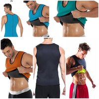 Hot Men Slimming Vest Body Shaper Neoprene Abdomen Fat Burni...