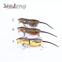 """Mmlong 2.5"""" Ratte-Fischen-Köder Realistische Maus Crankbait Vivid 3D Eyes Swim Bait 10,3 g Naturgetreue Fischen Wobbler Tackle RAt4-M"""