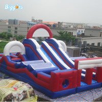 PVC Hot selling Inflável Inflável Bounce Casa Jump House Game Interativo Cumprimento de Obstáculo Com Sopradores para Venda