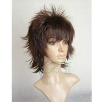 Parrucche Cosplay Capelli New Short Marrone scuro Moda Anti-Alice Cos Wig 10ac9dec8cd3