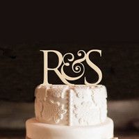 Personalized Wooden cake topper custom initial wedding cake ...