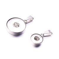 Noosa de Aço Inoxidável 12mm 18mm Botão Snap Acessórios Achados Botão de Metal para Fazer DIY Snap Pulseira Colar Snap Jóias