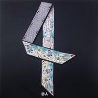 Таро серии двойной двойной печатный саржа привязки мешок ручки шелковый шарф тонкая лента шарф женщина