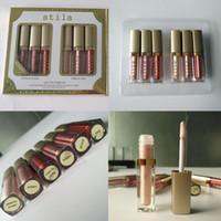 في المخزن! Stila Eye for Elegance 6 ألوان في مجموعة واحدة Shining Bronzer Gold Eye Shadow