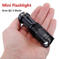 Mini LED Flashlight ZOOM 7W CREE 300LM Waterproof LED light ...