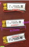 3.7v 220mAh 601235 Li-polymer LiPo ricaricabile LiPo con protezione Borad power Per mini speaker Mp3 bluetooth GPS Registratore DVD Jabra BT200