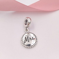 Authentic 925 Sterling Silver Beads Mrs. Charm Fits European...