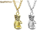 Boxing Glove Necklace 2018 Fashion Hot Selling Alloy Gold Si...