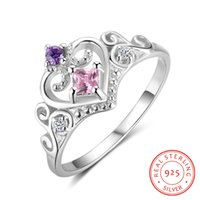 fashion female Exquisite Square CZ noble 925 Sterling Silver...