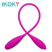 Ikoky dupla vibração clitóris estimulador brinquedos sexuais para mulheres casal adulto produtos anal e vaginal vibrador 7 velocidade g-spot y18102906