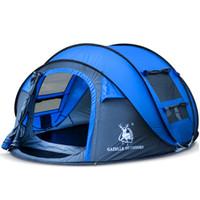 HUI LINGYANG 방수 캠핑 하이킹 텐트 방수 대야 천막 팝업을 던지고 텐트 야외 자동 텐트를 던져