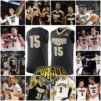 Custom Purdue Boilermaker College Baskeball Maglie Qualsiasi numero di nome # 3 Carsen Edwards 12 Vincent Edwards 31 Dakota Mathias 32 Matt Haarms