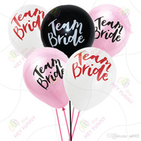 12inch Team Braut Ballon Romantische Nette Anniversaire Runde Latex Ball DIY Hen Night Bachelorette Hochzeit Dekorationen 20 9ws ZZ