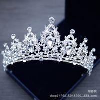 Свадебные украшения платье белый кристалл заставки Корона невесты принцессы короны Tiara головной убор для венчания 2018 Свадебные аксессуары