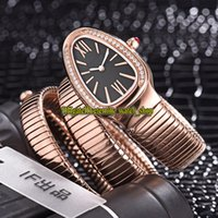 8 cores Luxry New Serpenti Tubogas 101814 SPP35BGDG.2t Black Dial Swiss Quartz Womens Watch Diamonds Case Pulseira Moda Lady Relógios 02