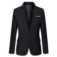 Riinr 2018 Бизнес повседневная костюм мода тонкий мужской костюмы повседневная сплошной цвет мужской блейзер размер