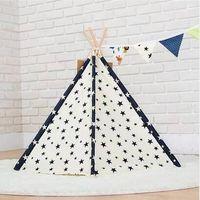 Heiße Rabatte!!! 2019 Großverkauf-freies Verschiffen Haustier-Tipi-Zelt-Hundekatzen-Spielzeug-Haus-tragbares waschbares Haustier-Bett-Stern-Muster
